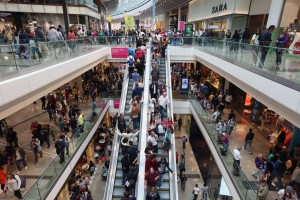 Shoppers Visit The Westfield Shopping Centre In Stratford As Traders Are Boosted By The Increased Olympic Footfall